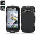 MANN ZUG 3 Waterproof Smartphone - Android 4.3 OS, 4 Inch Display, Shockproof, Dust Proof (Grey)