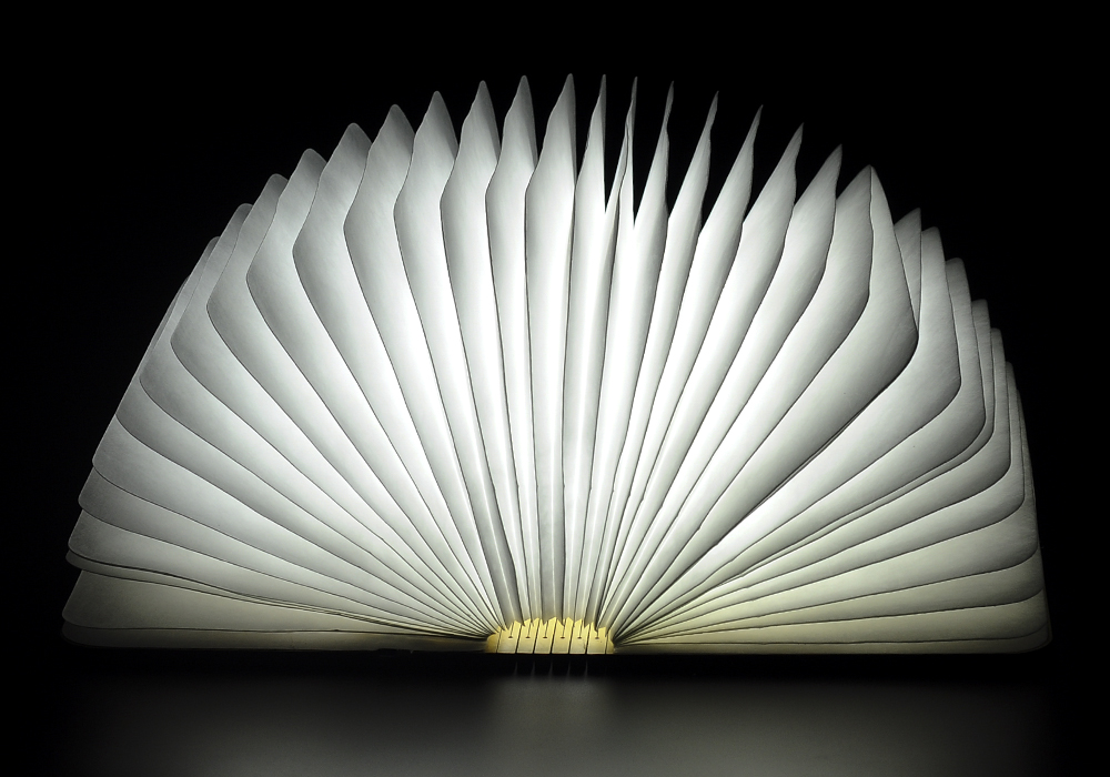 Image result for Creative Folding Book Light & Novelty Lamp – 2500mah Battery 500 Lumens Up To 6 Hours Usage Eco Friendly